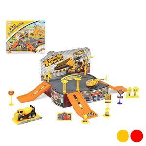 Rennbahn mit Rampen City Truck Gelb