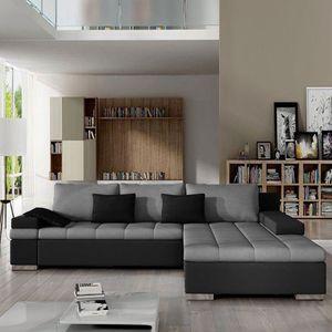 Mirjan24 Ecksofa Bangkok, Stilvoll L-Form Sofa mit Schlaffunktion und Bettkasten, Wohnlandschaft (Ecksofa Rechts, Soft 011 + Casablanca 2314 + Casablanca 2316)