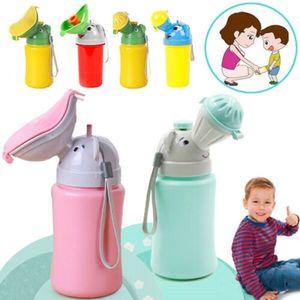 Rosa Tragbare Kunststoff Urinal Toilette Outdoor Reise Kinder Pee Flasche für Mädchen