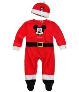 Disney Mickey Babyanzug und Mützchen rot