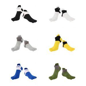 6 Paar Sport-Zehensocken Baumwoll Männer Frauen Sport laufende Zehen Socken, fünf Finger Socken, atmungsaktiv