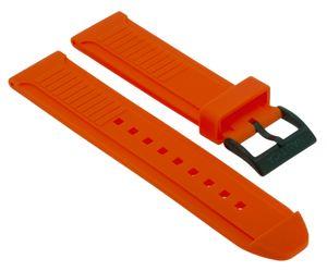 Nautica Herren Uhrenarmband 22mm gleichlaufend Kunststoff orange A11619G