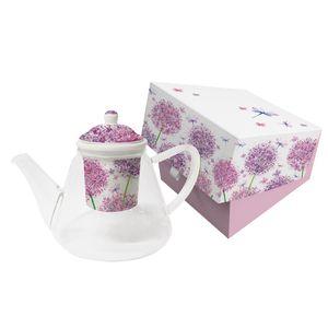 PPD Aquarell Dandelion Teekanne mit Sieb Kännchen Tee Kanne Trinkkanne Glas
