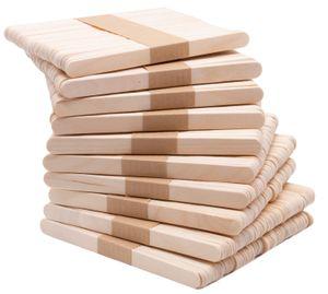 500 St. Eisstiele / Bastelstäbchen, ca. 11x1 cm, aus naturbelassenem Holz
