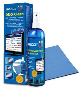 ROGGE DUO-Clean Original  inkl. 1 x ROGGE Prof. Display Microfasertuch (100% Polyester) ca. 38x40 cmLCD - LED - TFT - PLasma - Smartphone - Tablet - Optik .....