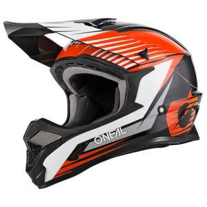 Oneal 1Series Stream Jugend Motocross Helm Farbe: Schwarz/Weiß/Orange, Grösse: YL (51/52)