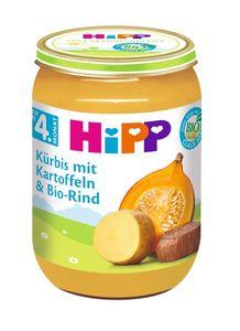 HiPP Menüs nach dem 4.Monat, Kürbis mit Kartoffeln undRind, DE-ÖKO-037 - 190g