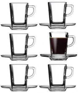 12tlg. Set Espressotassen mit Unterteller Carre