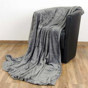 """Kuscheldecke """"Celina"""" - hochwertige Flauschige Decke, 130 x 170 cm - Anthrazit"""