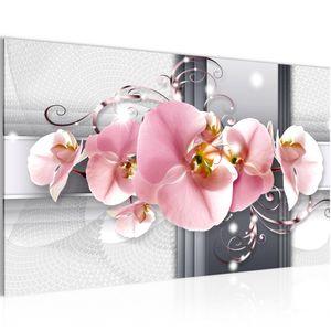 Blumen Orchidee BILD 70x40 cm − FOTOGRAFIE AUF VLIES LEINWANDBILD XXL DEKORATION WANDBILDER MODERN KUNSTDRUCK MEHRTEILIG 008314a