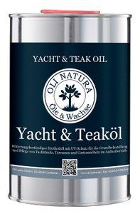 OLI-NATURA Yacht- und Teaköl (Holzöl für Außenbereich, UV-Schutz), 1 Liter, Farblos/Natur