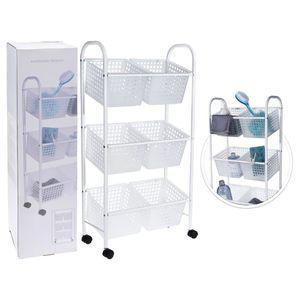 Bathroom Solutions Badezimmerwagen mit 6 Körben