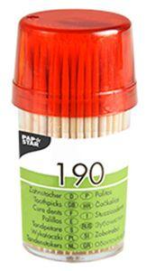 PAPSTAR Zahnstocher aus Holz rund Länge: 65 mm 190 Stück