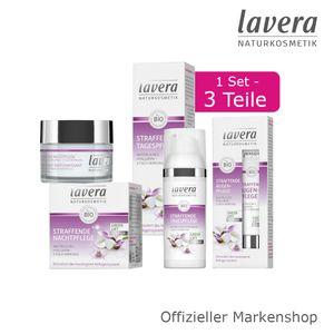 lavera Straffende Gesichtspflege Anti-Age Set 3tlg. Tages- Nacht- Augenpflege