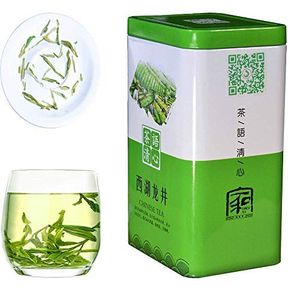 JQ Xihu Longjing Green Tea -  Spring Tea-Authentic Hangzhou Origin – West Lake Dragon Well Loose Leaf - (Second Grade - 5.3 oz/1 bag) Natural Nothing Add
