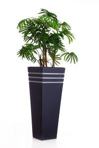 """Pflanzkübel Blumenkübel Zink """"New Classic"""", Anthrazit - 32x32x80 cm (mit Bewässerungsset)"""