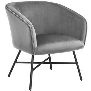 Yaheetech 1x Esszimmerstuhl Küchenstuhl Polsterstuhl Wohnzimmerstuhl Sessel, Sitzfläche aus Samt, Beine aus Metall, Rosa