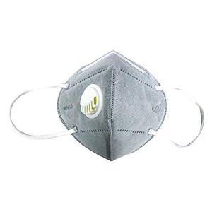 100 Stück  Atemschutz Maske Mit Ventil Wiederverwendbar FFP2 Atemschutz Maske