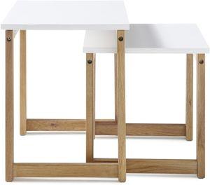 Konsolentisch Riverside in weiß matt lackiert und Eiche massiv geölt Wandtisch 110 x 32 cm