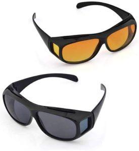 2er Pack Überzieh Nachtsichtbrille für Autofahrer, für Brillenträger, getönte polarisierende Gläser, gemäß ISO Norm, schwarz/gelb