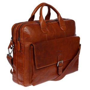 Business Aktentasche Tasche Messenger Laptop Leder Schultertasche Lehrertasche Cognac