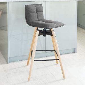 SoBuy® Design Barhocker,Drehstuhl,Tresenhocker,Sitz 75 cm,dunkelgrau,FST45-DG