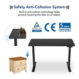 Flexispot EB2B Höhenverstellbarer Schreibtisch Elektrisch höhenverstellbares Tischgestell mit dual Motoren, passt für alle gängigen Tischplatten. Mit Memory-Steuerung und Softstart/-Stop