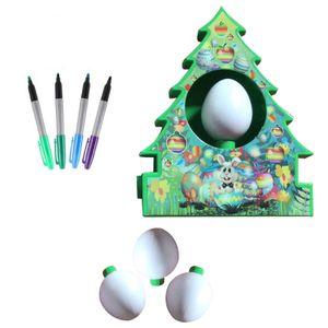 Ostern DIY gemalt Malerei Spiel Malbrett Ostern Kinderspielzeug SWF210222040