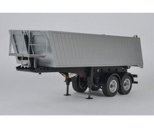 Carson 1:14 Truck LKW Anhänger 2-Achs Muldenkipper Sattelauflieger