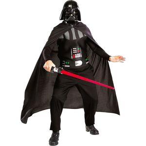 Herren Star Wars Kostüm-Set / Darth Vader (Brustpanzer, Umhang, Maske & Schwert) Größe: M/L