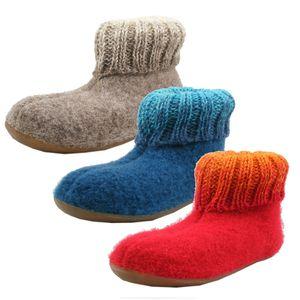 Haflinger 4481065-0 Everest Iris Mädchen Jungen Hausschuhe Slipper Wolle , Größe:25 EU, Farbe:Beige