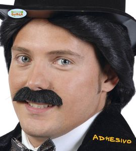 Fiestas Guirca schnurrbart dick Männer synthetisch schwarz