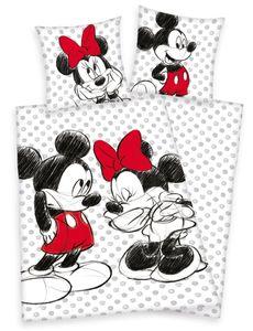 Disney´s Mickey + Minnie Mouse Bettwäsche 80x80 + 135x200 cm