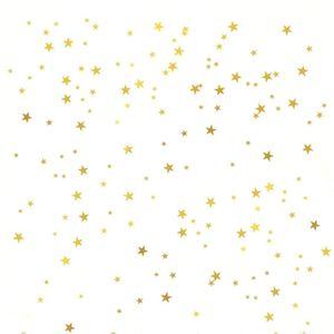 Gold Sterne Wandtattoo (130 Abziehbilder) Sterne Muster DIY Wandaufkleber Abnehmbare Wohnkultur Metallic Vinyl Polka Wanddekor Aufkleber für Baby Kinder Kinderzimmer Schlafzimmer
