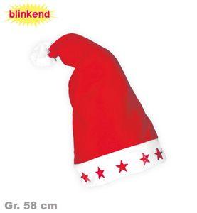 Kostüm Zubehör blinkende Nikolausmütze Weihnachtsmütze