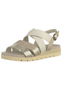 CAPRICE Damen Sandalen Silber Schuhe, Größe:41