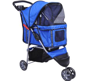 Bc-elec - 5663-0015Ablue Tier-Buggy Hundebuggy mit 3 Rädern, Farbe blau