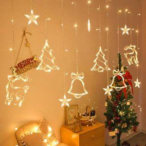 LED Lichterkette Sterne Lichtervorhang Sternenvorhang Garten Weihnachtsdeko, 3,5M, warmweiß, Batterie nicht enthalten