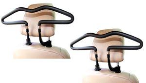 2er Set Business Autokleiderbügel für Kopfstütze   Universal KFZ Reisebügel aus Kunstleder   Stabiler Kleiderbügel Befestigung an der Kopfstütze   Car Dressbutler   PKW Rücksitz Aufhänger Anzug Halter