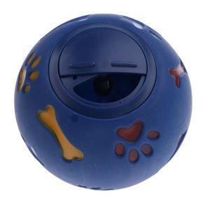 Hund Futterball Snackball für Trockenfutter Farbe Blau M