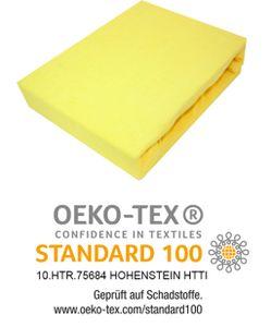 Spannbettlaken Frottee Spannbetttuch mit Gummizug Bettlaken Laken 200x220 cm Gelb
