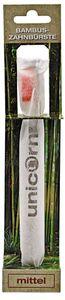 unicorn® Bambus Zahnbürste rot - mittel