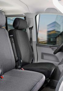 Walser Sitzbezüge für VW T6 Einzelsitz vorne aus strapazierfähigem Polyester Lissabon ab BJ 07/2015 - heute, 10525