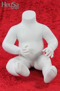Kinder Schaufensterpuppe weiß glänzend Schaufensterfigur Mannequin Baby Kind
