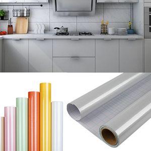 DTC GmbH Grau 1 Rollo(6M x 0,61M) klebefolie möbel möbelfolie selbstklebend, möbelfolie matt folie selbstklebend, klebefolie selbstklebende möbelfolie für Möbel Küche Schrank Tische Wand