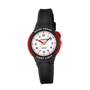 Calypso Kunststoff PUR Kinder Uhr K6069/6 Armbanduhr schwarz Analogico D2UK6069/6