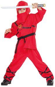 Rubie's 12348 104, Maskenkostüm, Mittelalterlich, Ninja, Junge, Polyester, Rot