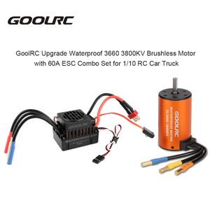 GoolRC Upgrade-Wasserdichte 3660 3800KV Brushless Motor mit 60A ESC Combo Set fš¹r 1/10 RC Auto-LKW