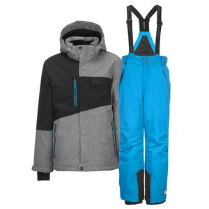 killtec Kinder Skianzug Gr. 152 2-tlg. Skijacke Porto + Skihose Gauror grau/blau - 152
