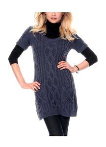 Cheer Long-Pullover, blau melange Strickwaren Größe: 40
